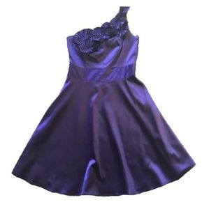 The Limited Purple One Shoulder Flower Dress Party